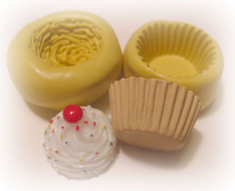 Cupcake Mold Deco Sweets Kawaii Soap Silicone Flexible Clay Resin Mould