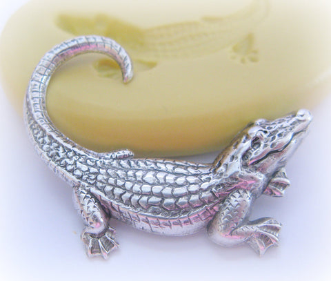 Alligator Silicone Mold Animal Swamp Zoo Resin Polymer Clay Mould