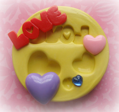 Heart Cabochon DIY Love Mold Resin Polymer Clay Mold