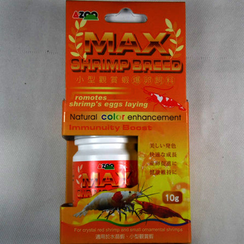 Azoo Max Shrimp Breed 10g, Alimentos - AQUAPLANTAS