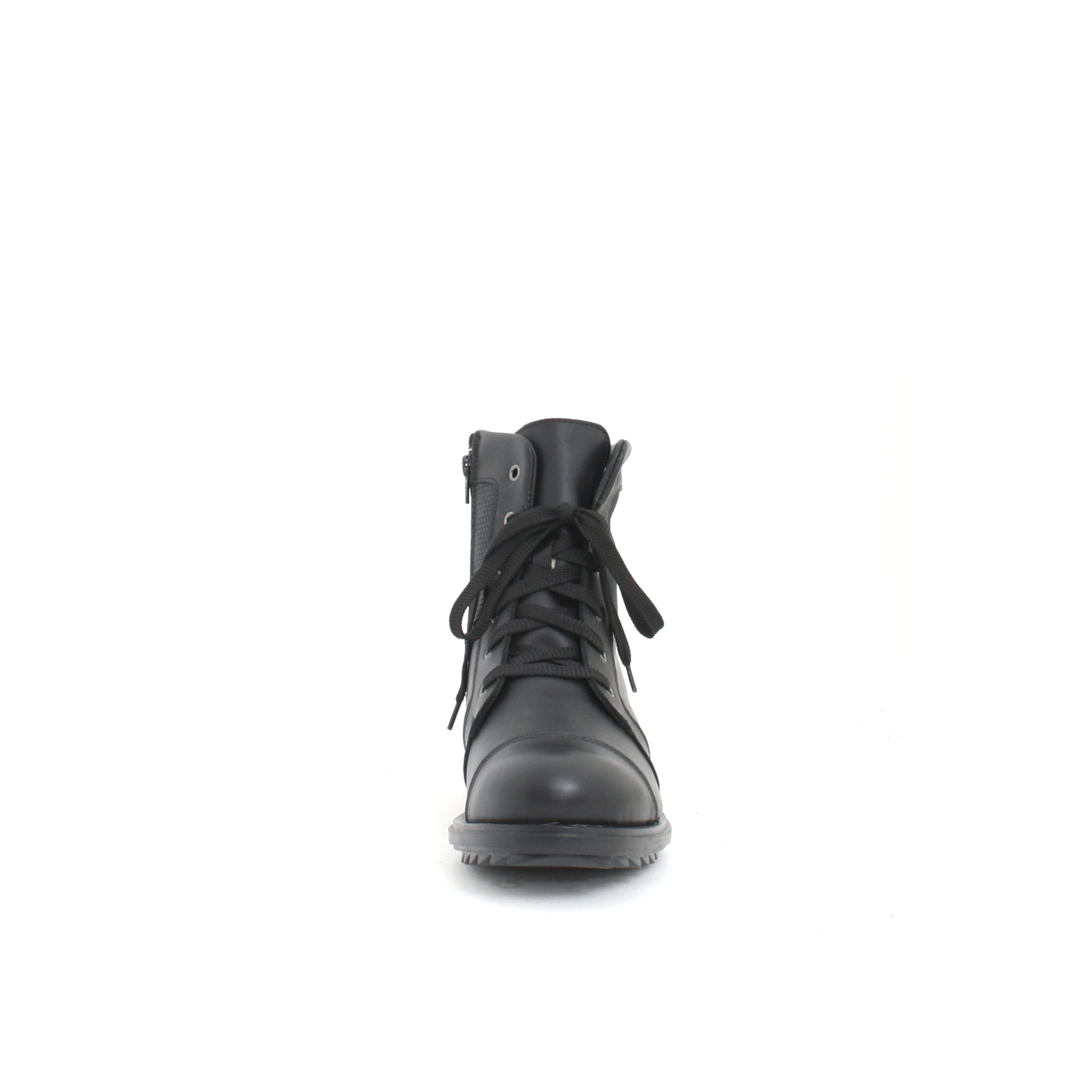 Martino- Matt Black leather boots for men