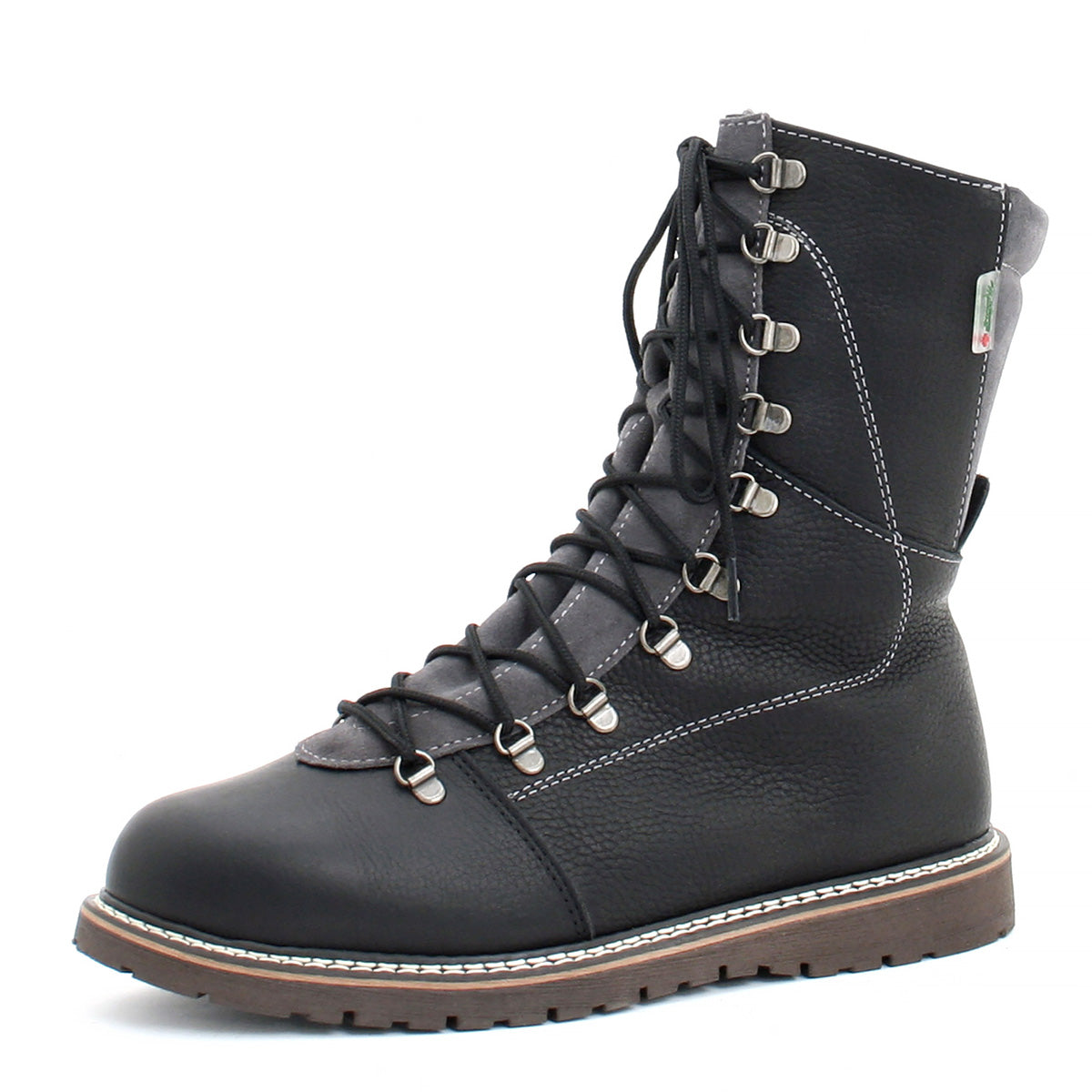 Martino- Black Grey Banff Alpha boot for men