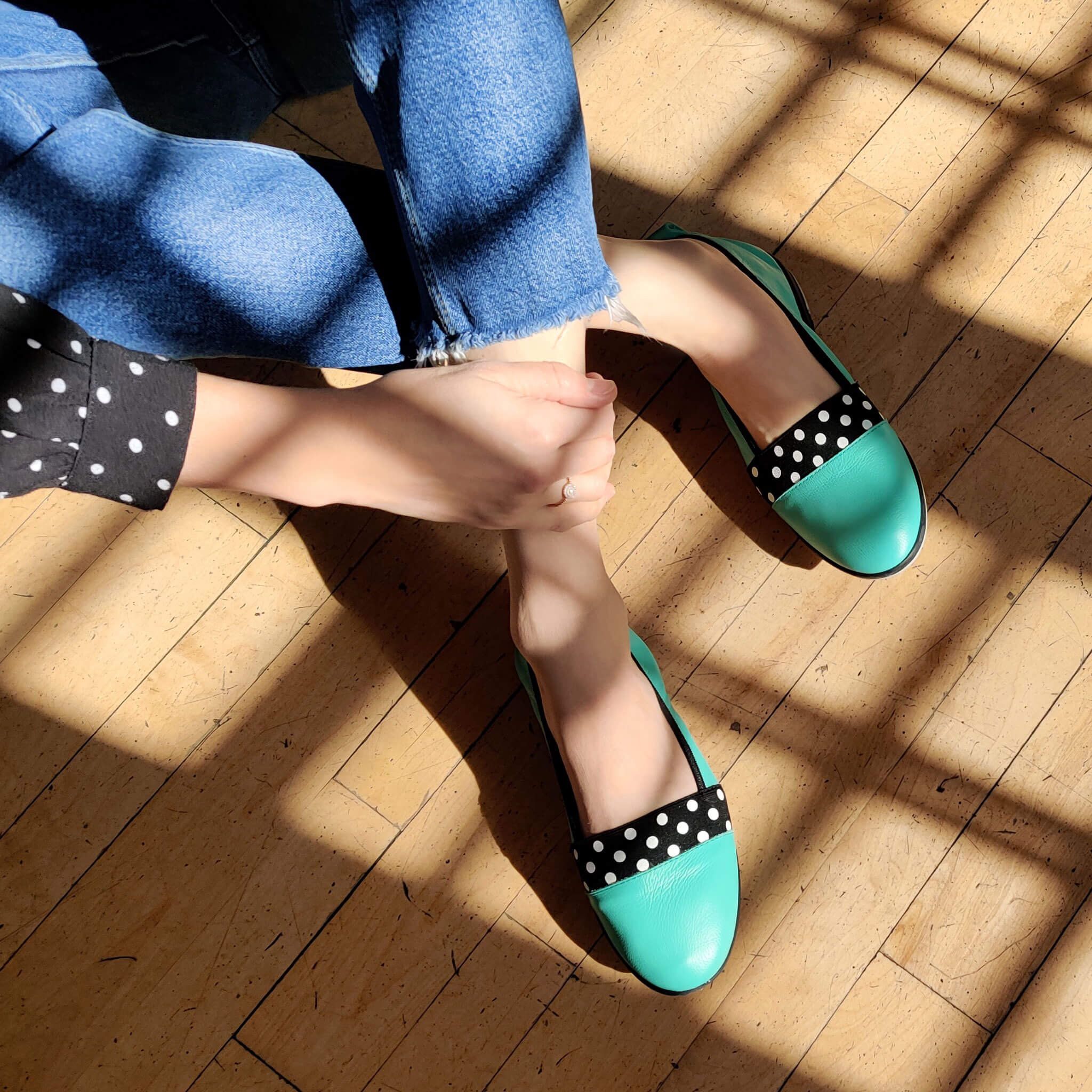 MAËL- Chaussure Ema Turquoise pour femme