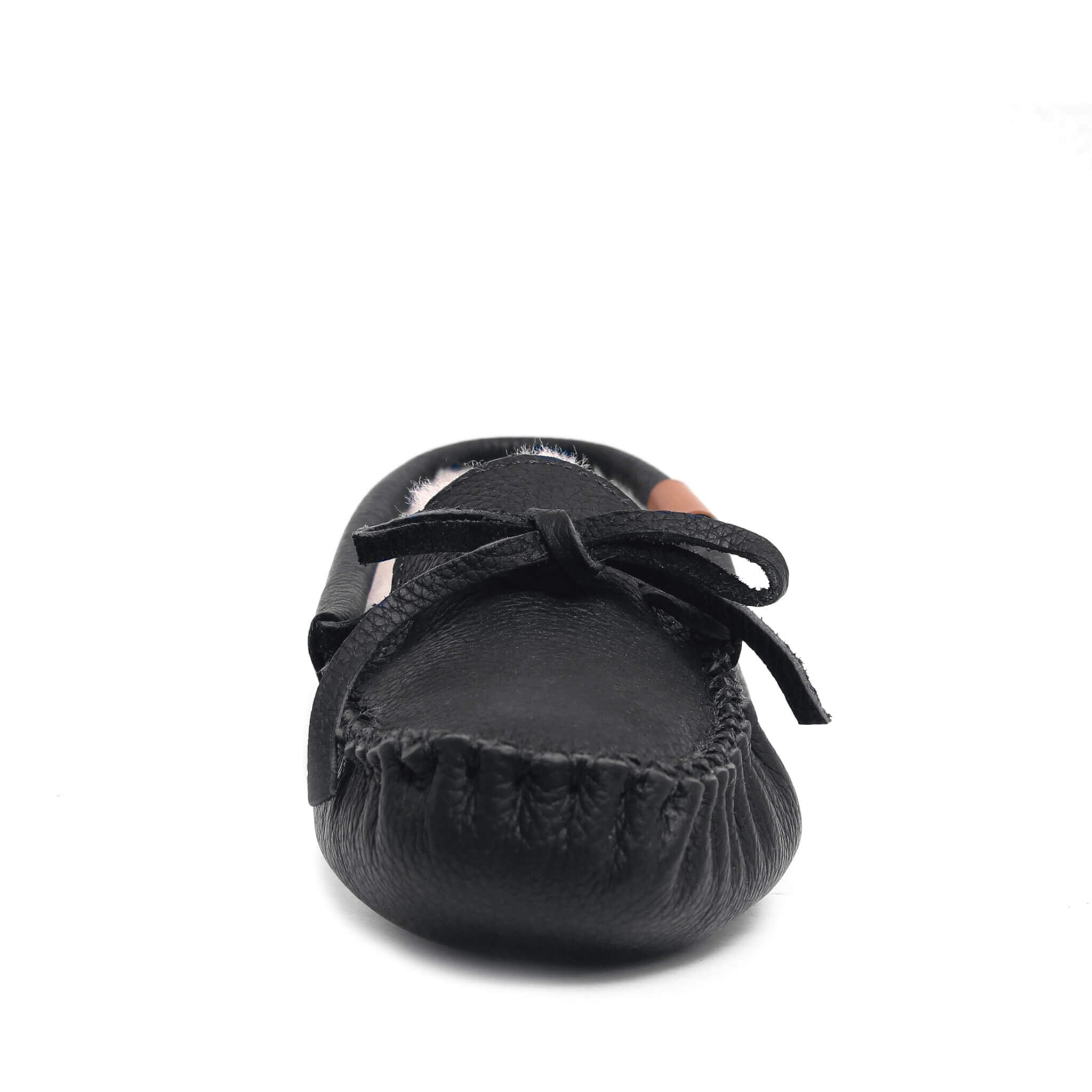 AMIMOC- Lenno grizzly black moccasin for men