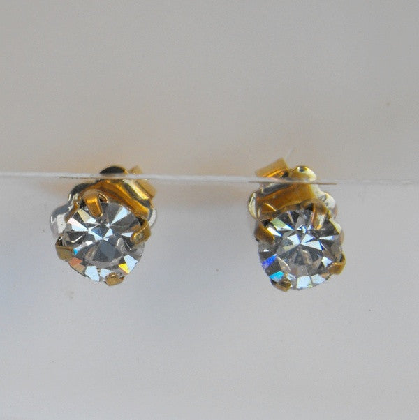 Avon Swarovski Crystal Stud Earrings
