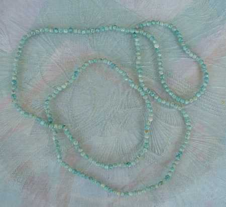 Green Alabaster Small Bead Necklace Gemstone Jewelry