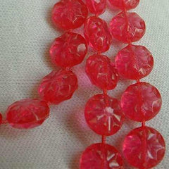 1960s Hot Pink Flapper Necklace Plastic Fruit Salad Vintage Jewelry