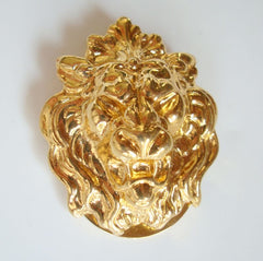 Roaring Lion Scarf Sash Clip Vintage Animal Jewelry