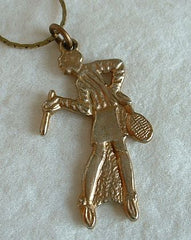 Virginia Slims Tennis Player Necklace 20s style Vintage Jewelry