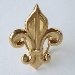 Fleur de Lis Scarf Slider Holder Goldtone Jewelry