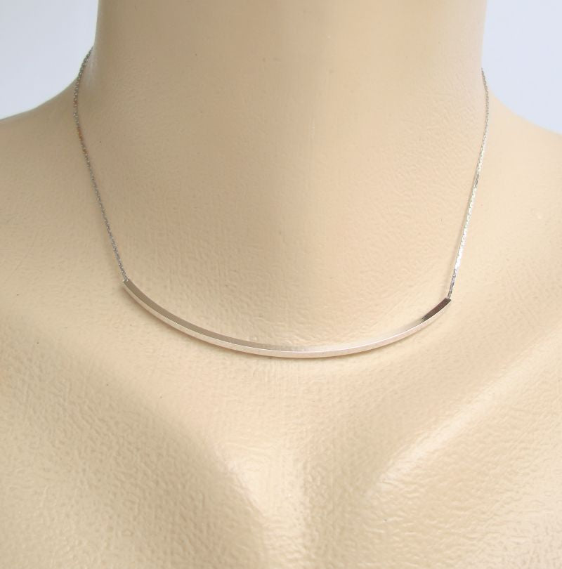 NS or SN Signed Tubular Slider Choker Necklace 14.5 inches Vintage Jewelry