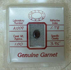 Genuine Red Garnet in Package 1.0 Carat
