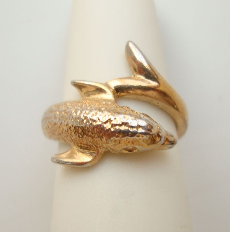 Dolphin Toe Ring Size 3 Figural Animal Mammal Jewelry