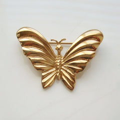 D'ORLAN 22K Triple Plated Butterfly Pin Brooch Jewelry