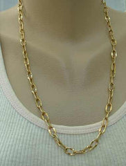 Long Curb Link Chain Necklace 24-inches Vintage Jewelry