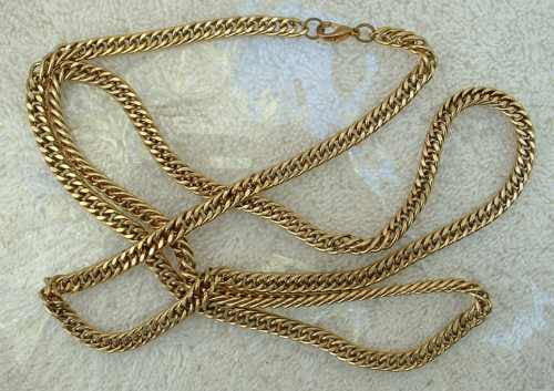 Extra Long 36-inch Curb Link Chain Necklace Vintage Jewelry