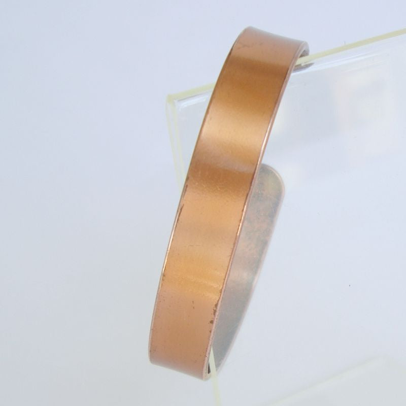 Adjustable Solid Copper Cuff Bracelet Narrow Flexible Band Vintage Jewelry
