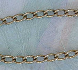 Textured Link Chain Necklace 30 inches long