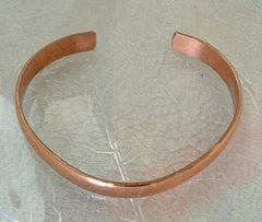 Sergio Lub Signed Solid Copper Cuff Bracelet Vintage Jewelry