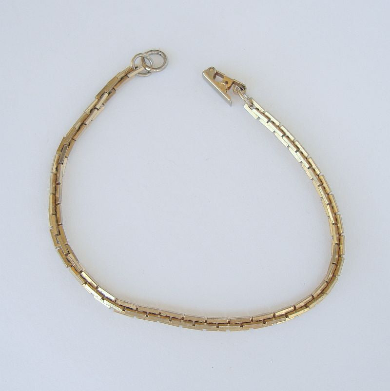 Sarah Coventry Chain Bracelet Square Cable Style Vintage Jewelry