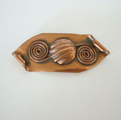 Crimi Morley maybe Retro Copper Brooch Mid Century Vintage Jewelry