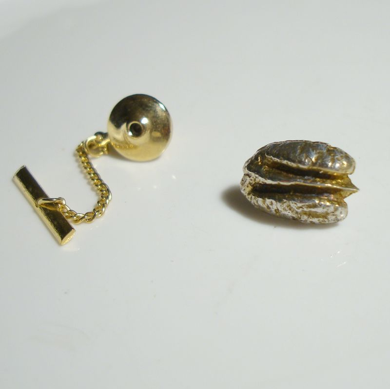Faux Gold Nugget Tie Tac Lapel Pin Vintage Jewelry Sharons