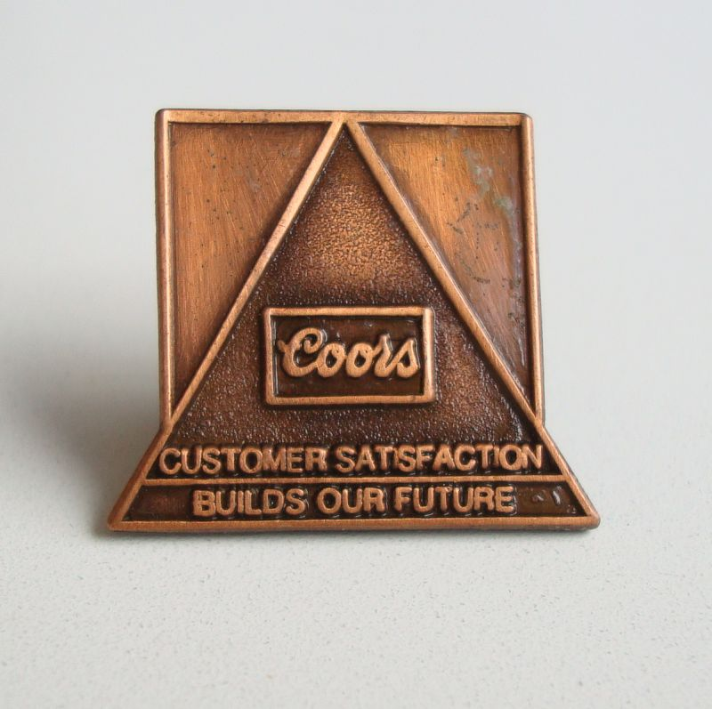Coors Beer Copper Tie Tac Lapel Pin Jewelry