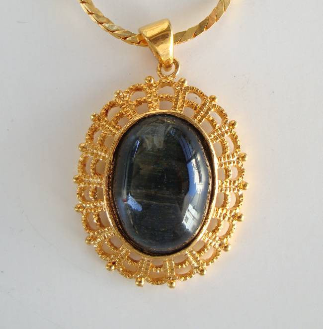Labradorite Pendant Necklace 18-inches Gemstone Jewelry