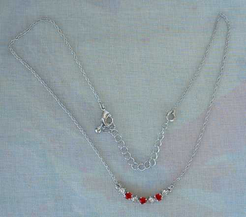 Nancy rise ruby red rhinestone necklace jewelry sharon for Nancy b fine jewelry
