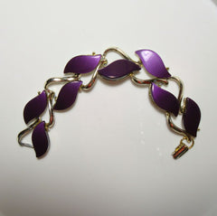 Purple Lavender Thermoset Link Bracelet Possibly Coro Vintage Jewelry