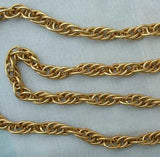 Heavy Long Weave Chain Necklace 39-inches Goldtone Jewelry