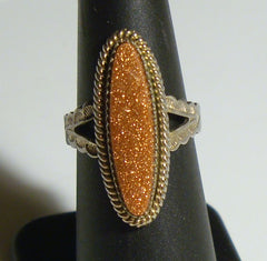 cocktail ring cubic zirconia statement ring sterling silver womens size 6.75 vintage 90s 2000s