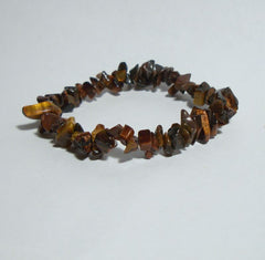 Red Tigers Eye Chip Stretch Bracelet Gemstone Jewelry
