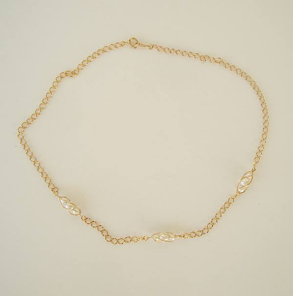Avon Pearls in a Cage Necklace