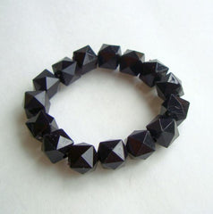 Black Art Deco Style Expansion Bead Bracelet