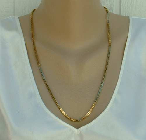 Trifari Square Link Chain Necklace 24 inches Vintage Jewelry