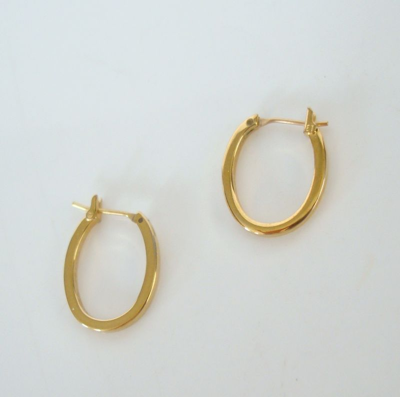 Monet Petite Goldtone Hoop Earrings Signed Jewelry