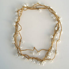 Pearl Chain Necklace Flapper Length 72 Inches Vintage Jewelry
