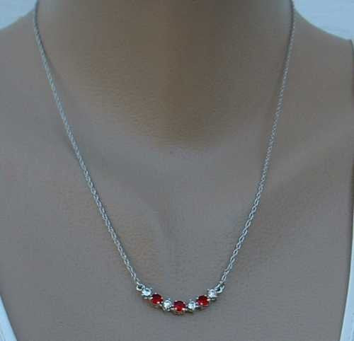 Nancy & Rise Ruby Red Rhinestone Necklace Jewelry