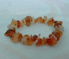 Genuine Carnelian Nuggets Stretch Bracelet Gemstone Jewelry