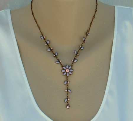 BW copper plated convertible necklace