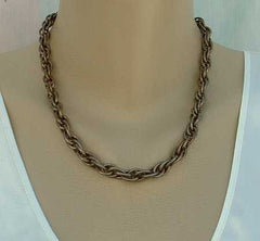 REBAJES Weave Link Chain Necklace 19 inches Vintage Jewelry