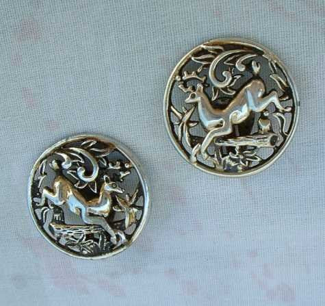 Sarah Coventry WOODLAND FLIGHT 1958 Deer Openwork Clip Earrings