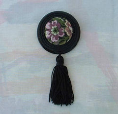 Large Tapestry Tassel Brooch Pin Vintage Jewelry