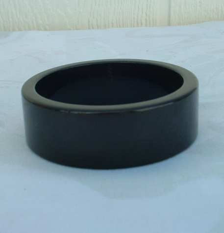 Wide Black Bakelite Bangle Bracelet Vintage Jewelry