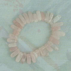 Rose Quartz Genuine Gemstone Stretch Bracelet