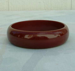 Maroon Purple Plum Bangle Bracelet Vintage Jewelry