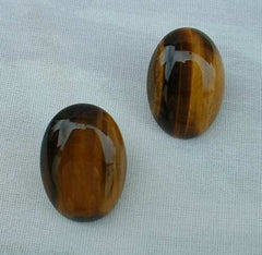 Tigers Eye Cabochon Post Style Earrings Gemstone Jewelry