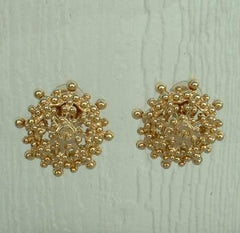 St John Knits Starburst Nugget Clip On Earrings Designer Jewelry