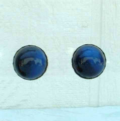 STAR Cobalt Blue Moonglow Lucite Screw Earrings Desisgner Vintage Jewelry